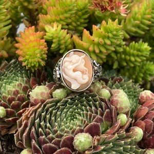 Jewelry - Mermaid Cameo Poison Sterling Ring 9